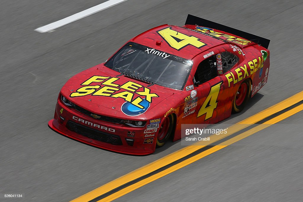 Ross Chastain, driver of the #4 Flex Seal Chevrolet, practices for the NASCAR XFINITY Series Sparks Energy 300 at Talladega Superspeedway on April 29, 2016 in Talladega, Alabama.