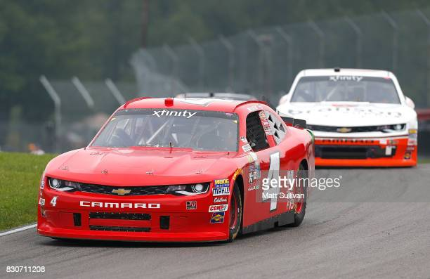 Ross Chastain driver of the teamjdmotorsportscom Chevrolet practices for the NASCAR XFINITY Series MidOhio Challenge at MidOhio Sports Car Course on...