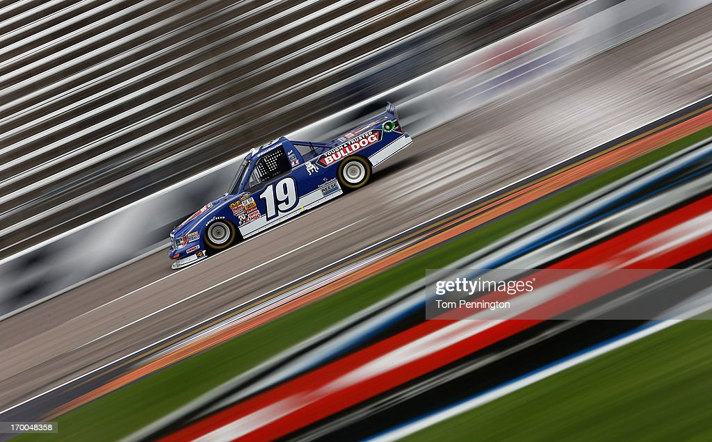 Ross Chastain drives the #19 Bulldog/Draw Tite Ford during practice for NASCAR Camping World Truck Series WinStar World Casino 400 at Texas Motor Speedway on June 6, 2013 in Fort Worth, Texas.