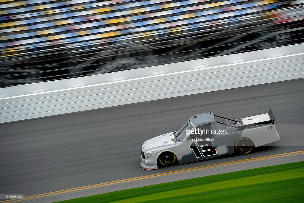Ross Chastain drives the #13 Thorsport Toyota during NASCAR Preseason Thunder at Daytona International Speedway on January 14, 2014 in Daytona Beach, Florida.