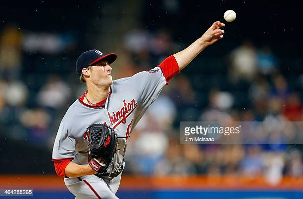 Ross Detwiler of the Washington Nationals in action against the New York Mets at Citi Field on June 28 2013 in the Flushing neighborhood of the...
