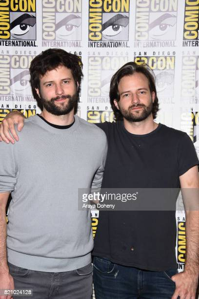 Ross Duffer and Matt Duffer attend the 'Stranger Things' press conference at ComicCon International 2017 on July 22 2017 in San Diego California