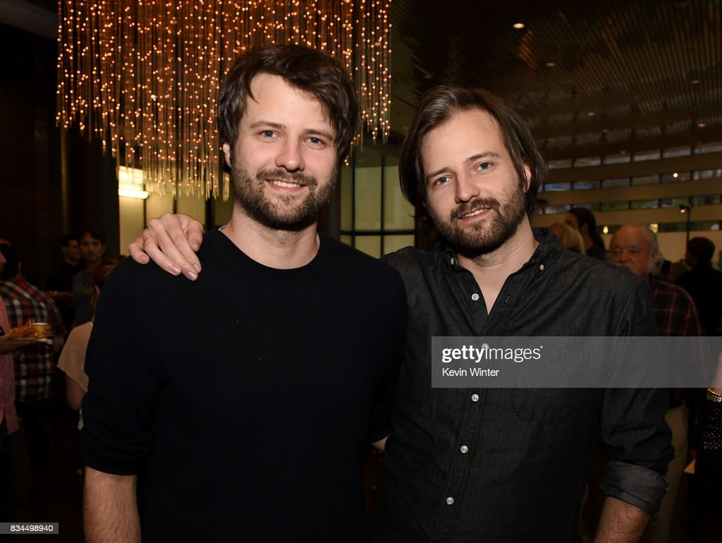 Ross Duffer (L) and Matt Duffer, creators, writers and executive producers arrive at a reception and q&a for Netflix's 'Stranger Thing' at the Directors Guild on August 17, 2017 in Los Angeles, California.