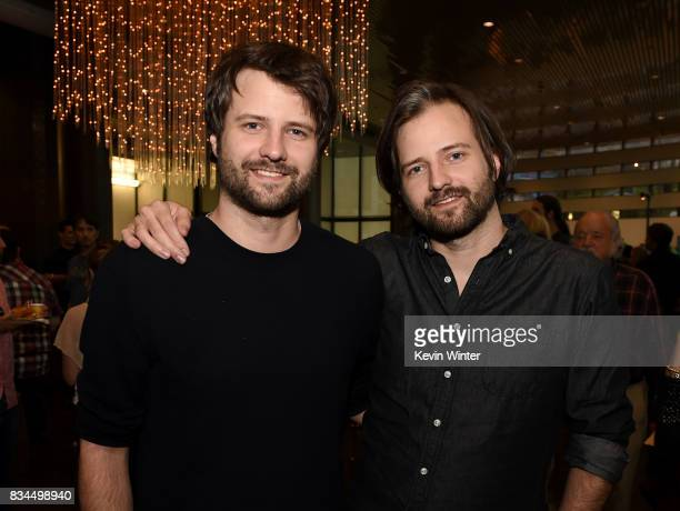 Ross Duffer and Matt Duffer creators writers and executive producers arrive at a reception and qa for Netflix's 'Stranger Thing' at the Directors...