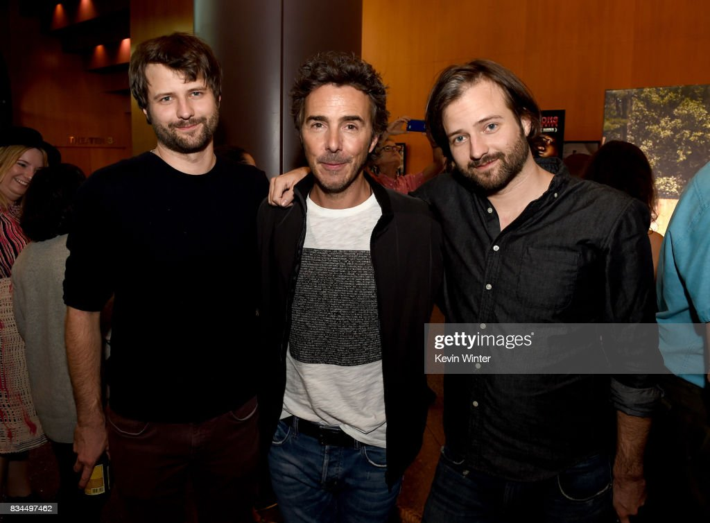 Ross Duffer, creator, writer, executive producer, Shawn Levy, director, executive producer and Matt Duffer, creator, writer, executive producer arrive at a reception and q&a for Netflix's 'Stranger Thing' at the Directors Guild on August 17, 2017 in Los Angeles, California.