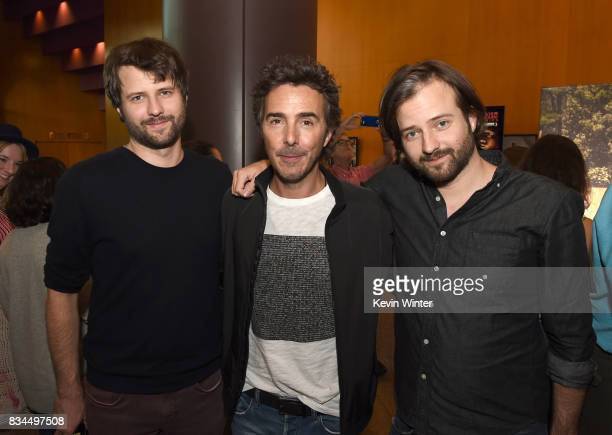 Ross Duffer creator writer executive producer Shawn Levy director executive producer and Matt Duffer creator writer executive producer arrive at a...
