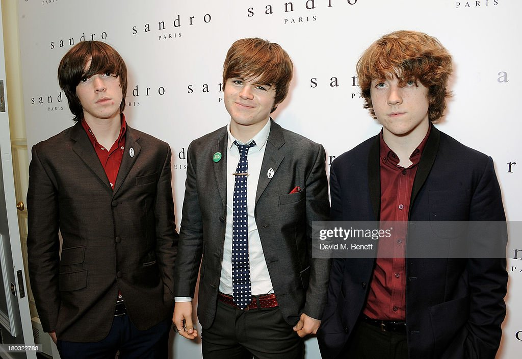 Ross Farrelly, Josh McClorey and Pete O'Hanlon of The Stypes attend the Sandro London flagship store launch in Covent Garden on September 11, 2013 in London, England.