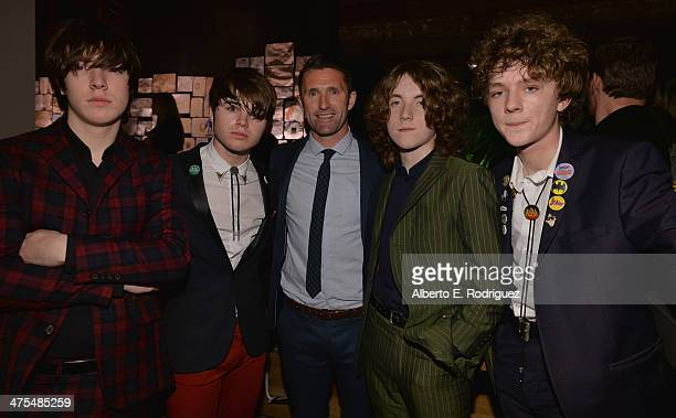 Ross Farrelly Josh McClorey Pete O'Hanlon and Evan Walsh of The Strypes and Football Player Robbie Keane attend the 9th Annual 'Oscar Wilde Honoring...