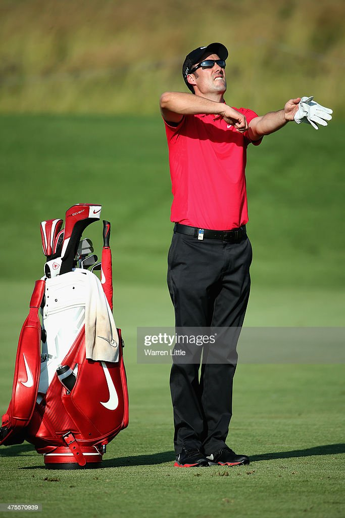 <a gi-track='captionPersonalityLinkClicked' href=/galleries/search?phrase=Ross+Fisher&family=editorial&specificpeople=541078 ng-click='$event.stopPropagation()'>Ross Fisher</a> of England checks the wind direction during the second round of the Tshwane Open at Copperleaf Golf & Country Estate on February 28, 2014 in Centurion, South Africa.