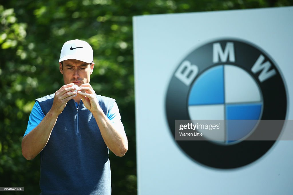 <a gi-track='captionPersonalityLinkClicked' href=/galleries/search?phrase=Ross+Fisher&family=editorial&specificpeople=541078 ng-click='$event.stopPropagation()'>Ross Fisher</a> of England inspects his ball on the 5th hole during day two of the BMW PGA Championship at Wentworth on May 27, 2016 in Virginia Water, England.