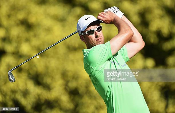 Ross Fisher of England plays a shot during the final round of the Tshwane Open at Pretoria Country Club on March 15 2015 in Pretoria South Africa