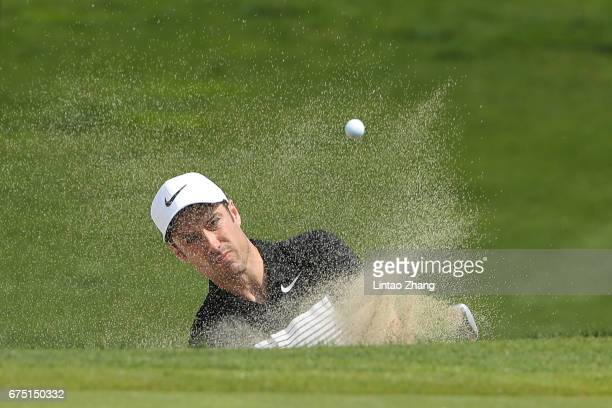Ross Fisher of England plays a shot during the final round of the 2017 Volvo China Open at Topwin Golf and Country Club on April 30 2017 in Beijing...