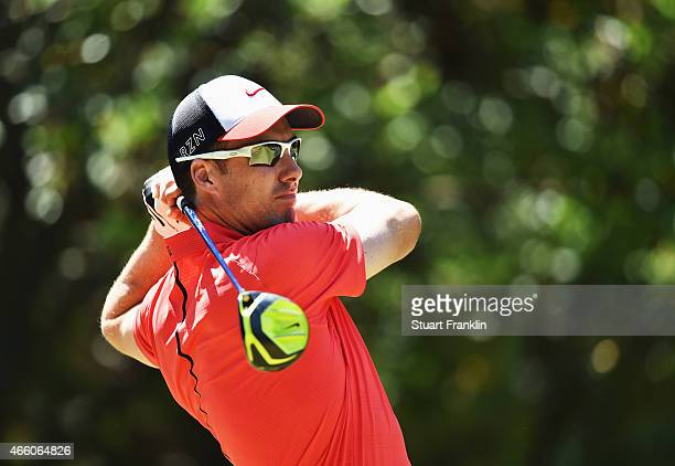 Ross Fisher of England plays a shot during the second round of the Tshwane Open at Pretoria Country Club on March 13 2015 in Pretoria South Africa