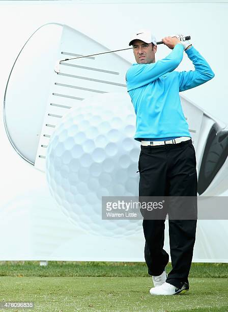 Ross Fisher of England tees off on the 17th hole during the final round of the Tshwane Open at Copperleaf Golf Country Estate on March 2 2014 in...