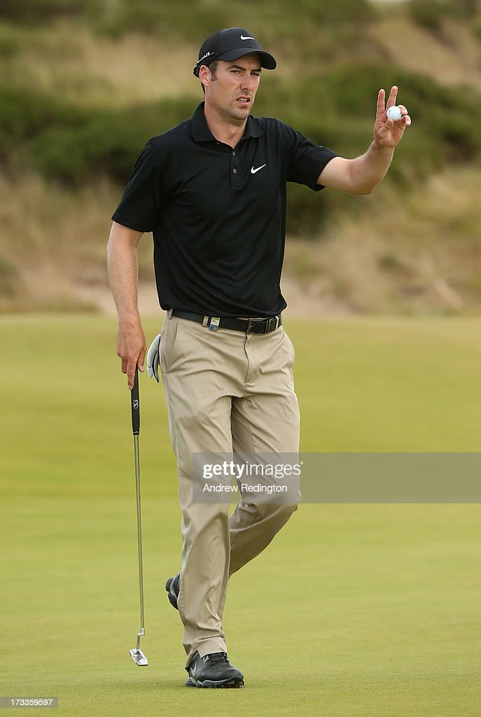 <a gi-track='captionPersonalityLinkClicked' href=/galleries/search?phrase=Ross+Fisher&family=editorial&specificpeople=541078 ng-click='$event.stopPropagation()'>Ross Fisher</a> of England waves to the crowd on the 16th green during the second round of the Aberdeen Asset Management Scottish Open at Castle Stuart Golf Links on July 12, 2013 in Inverness, Scotland.