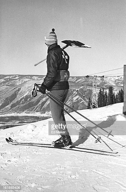 FEB 17 1964 Ross Griffin Ski patrol W/shovel at Aspen