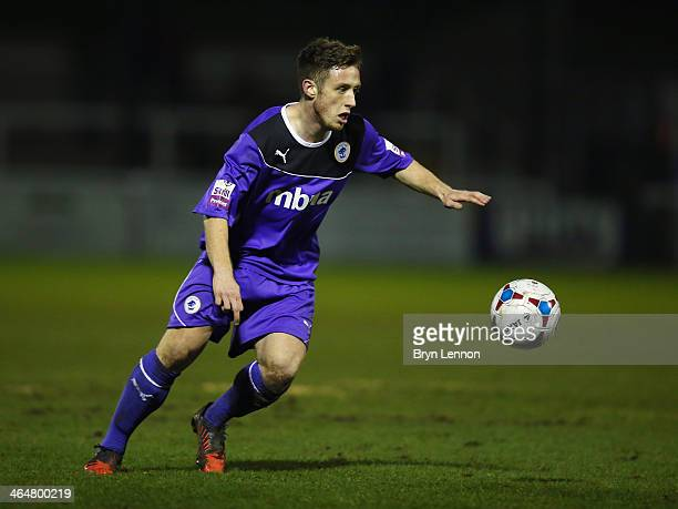 Ross Killock of Chester City in action during the Skrill Conference Premier match between Woking and Chester at the Kingfield Stadium on January 21...