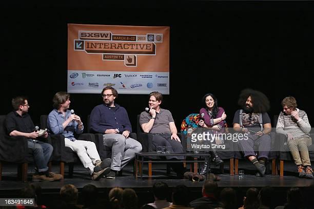 Ross Luippold Deputy Comedy Editor HuffPost Comedy producer Daniel Kellison and comedians Eric Wareheim Tim Heidecker Sarah Silverman Reggie Watts...