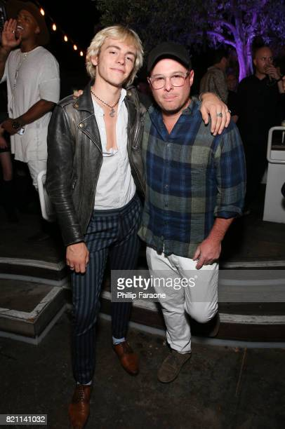 Ross Lynch and Marc Meyers at Entertainment Weekly's annual ComicCon party in celebration of ComicCon 2017 at Float at Hard Rock Hotel San Diego on...