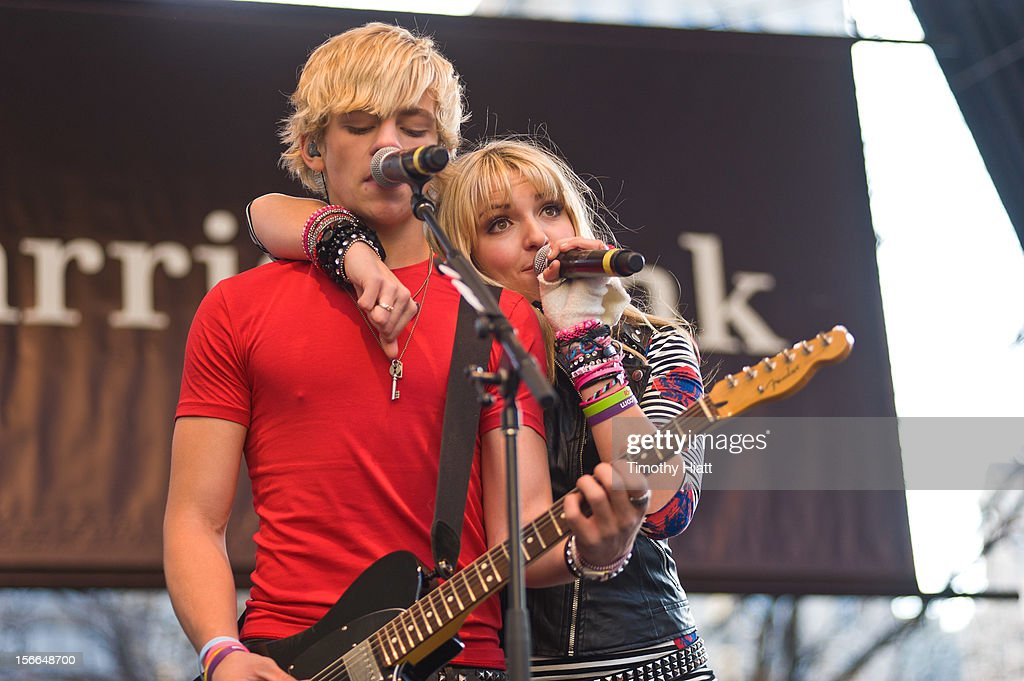 Ross Lynch and Rydel Lynch of R5attends the 2012 Magnificent Mile Lights Festival on November 17, 2012 in Chicago, Illinois.