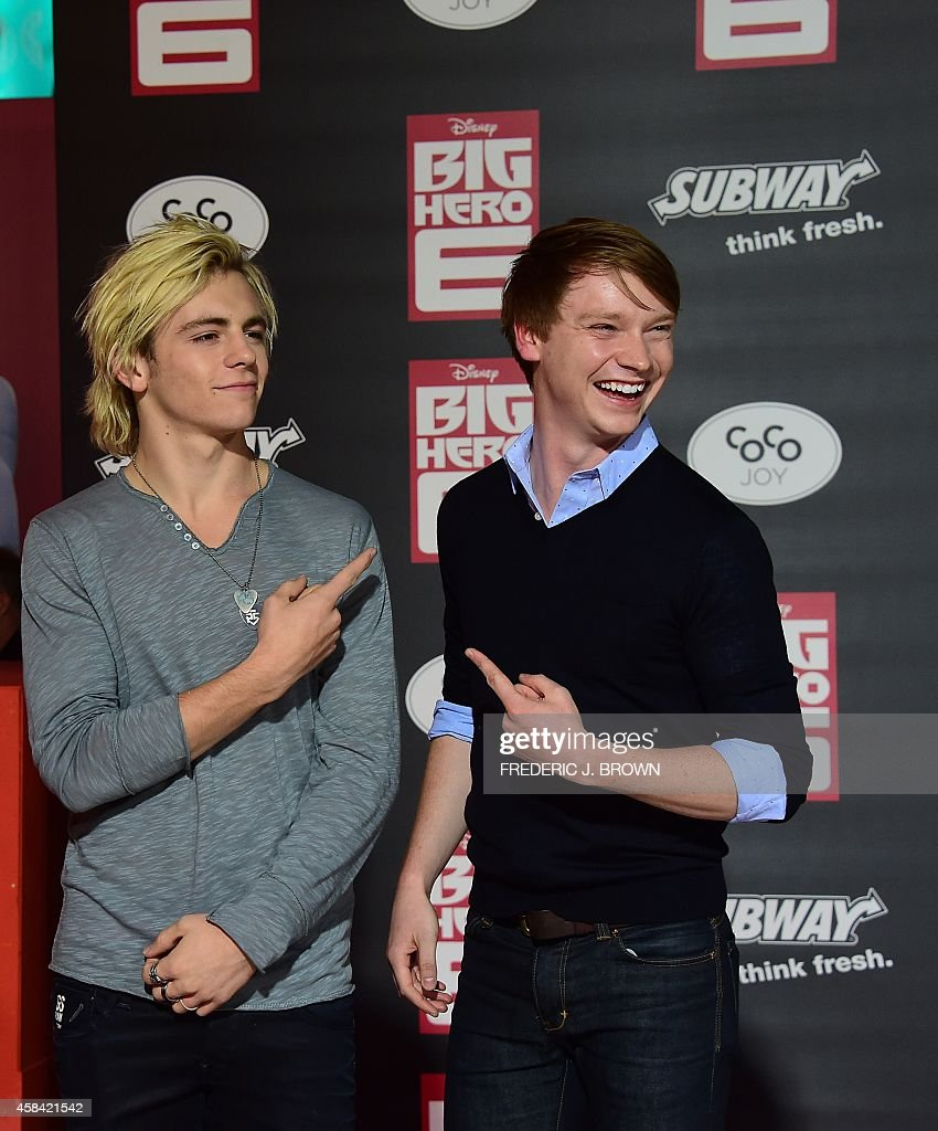 Calum Worthy And Ross Lynch 2014 Premiere Of Disney's &...