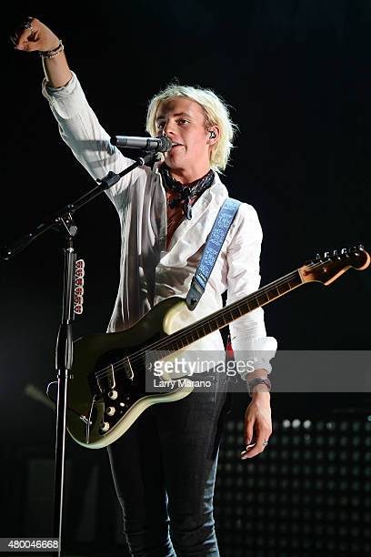 Ross Lynch of R5 performs at the Mizner Park Amphitheatre on July 8 2015 in Boca Raton Florida