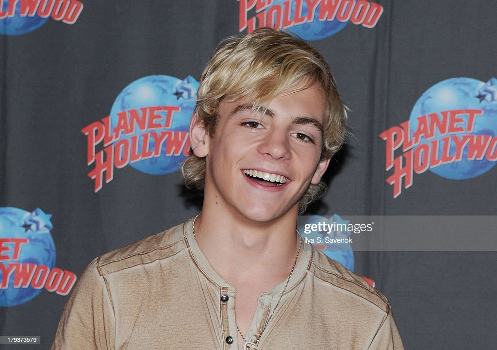<a gi-track='captionPersonalityLinkClicked' href=/galleries/search?phrase=Ross+Lynch&family=editorial&specificpeople=4814597 ng-click='$event.stopPropagation()'>Ross Lynch</a> of the band R5 visit Planet Hollywood Times Square on September 2, 2013 in New York City.