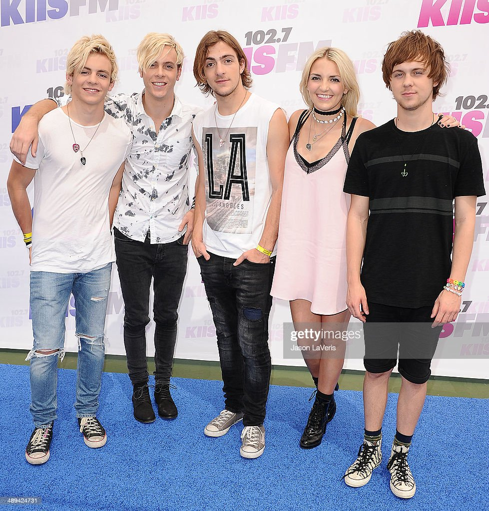 <a gi-track='captionPersonalityLinkClicked' href=/galleries/search?phrase=Ross+Lynch&family=editorial&specificpeople=4814597 ng-click='$event.stopPropagation()'>Ross Lynch</a>, <a gi-track='captionPersonalityLinkClicked' href=/galleries/search?phrase=Riker+Lynch&family=editorial&specificpeople=7492542 ng-click='$event.stopPropagation()'>Riker Lynch</a>, <a gi-track='captionPersonalityLinkClicked' href=/galleries/search?phrase=Rocky+Lynch&family=editorial&specificpeople=9989542 ng-click='$event.stopPropagation()'>Rocky Lynch</a>, <a gi-track='captionPersonalityLinkClicked' href=/galleries/search?phrase=Rydel+Lynch&family=editorial&specificpeople=9989541 ng-click='$event.stopPropagation()'>Rydel Lynch</a> and <a gi-track='captionPersonalityLinkClicked' href=/galleries/search?phrase=Ellington+Ratliff&family=editorial&specificpeople=9989540 ng-click='$event.stopPropagation()'>Ellington Ratliff</a> of the band R5 attend 102.7 KIIS FM's 2014 Wango Tango at StubHub Center on May 10, 2014 in Los Angeles, California.