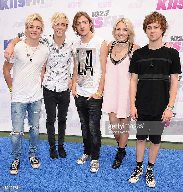 Ross Lynch Riker Lynch Rocky Lynch Rydel Lynch and Ellington Ratliff of the band R5 attend 1027 KIIS FM's 2014 Wango Tango at StubHub Center on May...