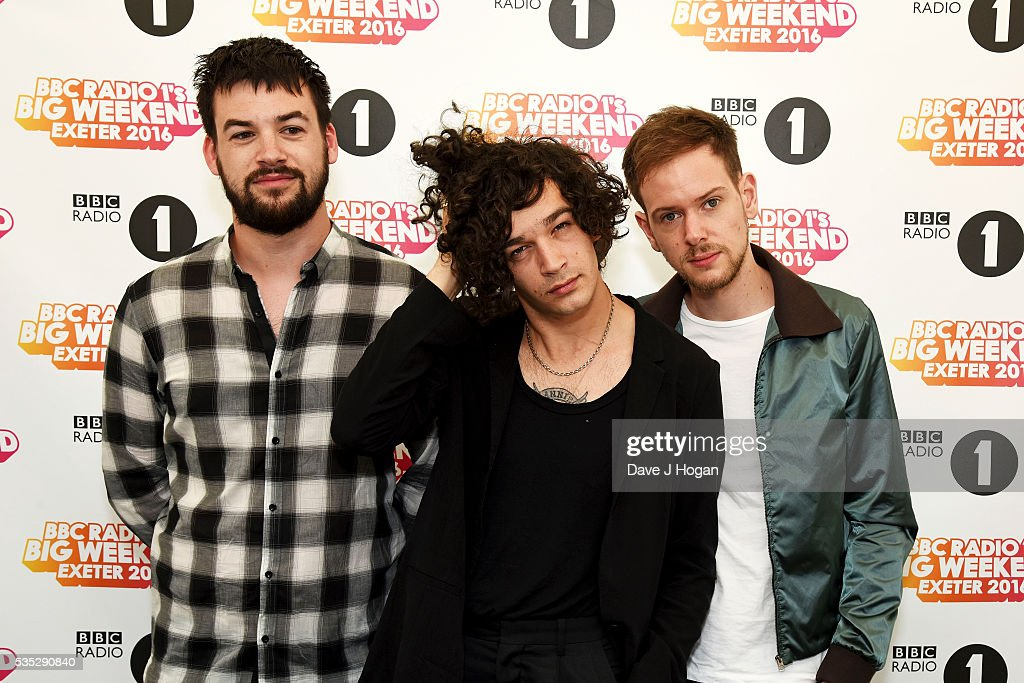 Ross MacDonald, <a gi-track='captionPersonalityLinkClicked' href=/galleries/search?phrase=Matthew+Healy&family=editorial&specificpeople=10172163 ng-click='$event.stopPropagation()'>Matthew Healy</a> and <a gi-track='captionPersonalityLinkClicked' href=/galleries/search?phrase=Adam+Hann&family=editorial&specificpeople=10172164 ng-click='$event.stopPropagation()'>Adam Hann</a> of The 1975 performs during day 2 of BBC Radio 1's Big Weekend at Powderham Castle on May 29, 2016 in Exeter, England.