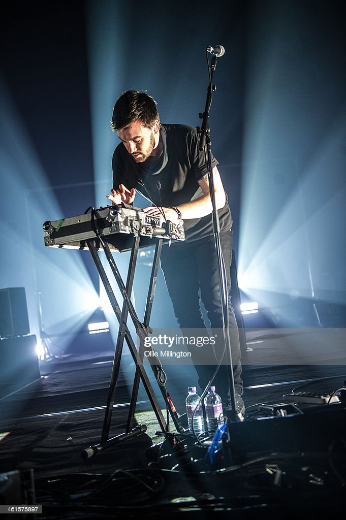 Ross MacDonald of The 1975 performs on stage at Brixton Academy on January 9, 2014 in London, United Kingdom.