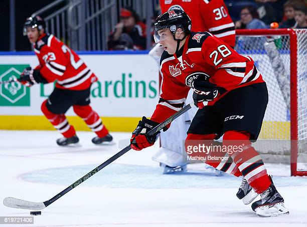 Ross MacDougall of the Quebec Remparts skates against the Baie Comeau Drakkar during their QMJHL hockey game at the Centre Videotron on October 14...