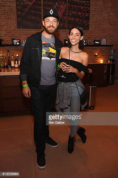 Ross Marquand and Jade CattaPreta attend the Xbox Gears Of War 4 New York launch event at The Microsoft Loft on October 7 2016 in New York City