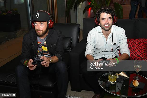 Ross Marquand and Nicholas Rutherford attend the Xbox Gears Of War 4 New York launch event at The Microsoft Loft on October 7 2016 in New York City