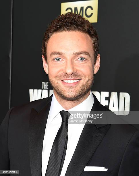Ross Marquand attends AMC's 'The Walking Dead' Season 6 Fan Premiere Event 2015 at Madison Square Garden on October 9 2015 in New York City