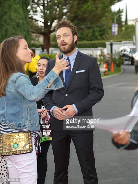 Ross Marquand is seen arriving at AMC 'Talking Dead Live' for the premiere of 'The Walking Dead' at the Hollywood Forever on October 23 2016 in Los...