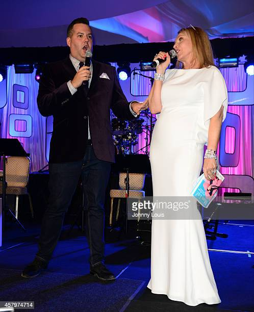 Ross Mathews and Lea Black attend The Blacks Annual Gala at Fontainebleau Miami Beach on October 25 2014 in Miami Beach Florida