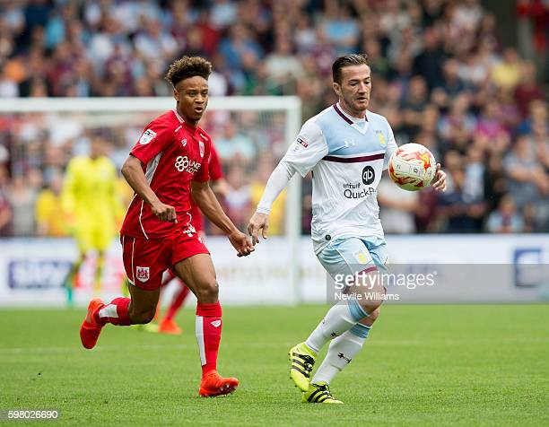 Ross McCormack of Aston Villa during the Sky Bet Championship match between Bristol City and Aston Villa at Ashton Gate on August 27 2016 in Bristol...