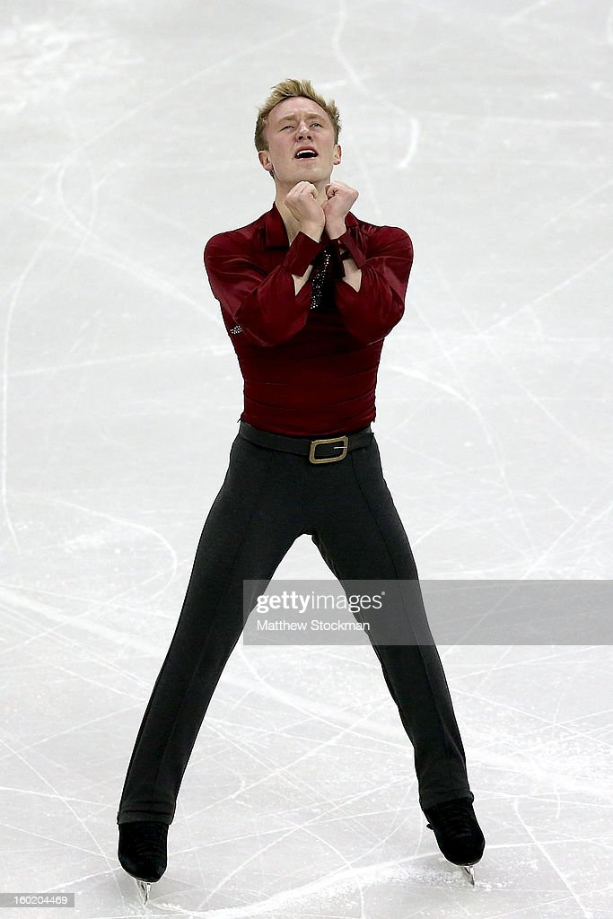 Ross Miner competes in the Men's Free Skate during the 2013 Prudential U.S. Figure Skating Championships at CenturyLink Center on January 27, 2013 in Omaha, Nebraska.