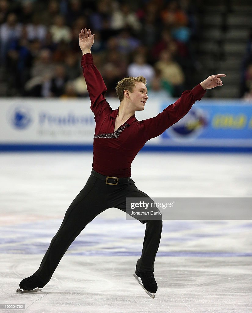 Ross Miner competes in the Mens Free Skate during the 2013 Prudential U.S. Figure Skating Championships at CenturyLink Center on January 27, 2013 in Omaha, Nebraska.