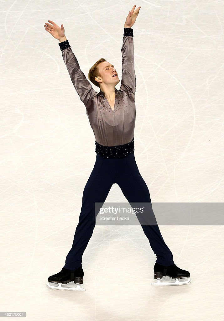 <a gi-track='captionPersonalityLinkClicked' href=/galleries/search?phrase=Ross+Miner&family=editorial&specificpeople=7462475 ng-click='$event.stopPropagation()'>Ross Miner</a> competes in the Men's Free Skate Program Competition during day 4 of the 2015 Prudential U.S. Figure Skating Championships at Greensboro Coliseum on January 25, 2015 in Greensboro, North Carolina.