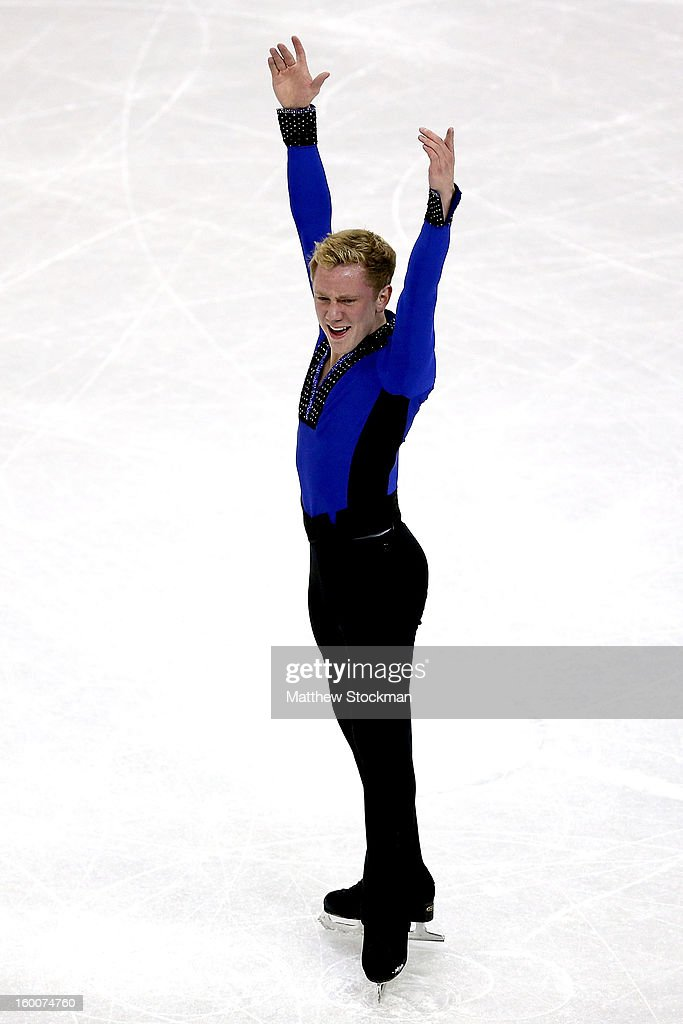 Ross Miner competes in the Men's Short Program during the 2013 Prudential U.S. Figure Skating Championships at CenturyLink Center on January 25, 2013 in Omaha, Nebraska.
