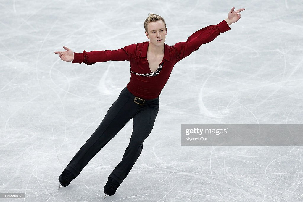 Ross Miner of the United States competes in the Men Free Skating during day two of the ISU Grand Prix of Figure Skating NHK Trophy at Sekisui Heim Super Arena on November 24, 2012 in Rifu, Japan.