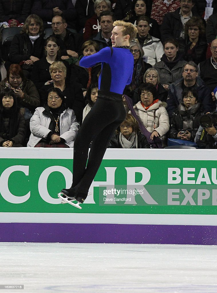Ross Miner of the United States of America skates in the Men's Short Program during the 2013 ISU World Figure Skating Championships at Budweiser Gardens on March 13, 2013 in London, Ontario, Canada.