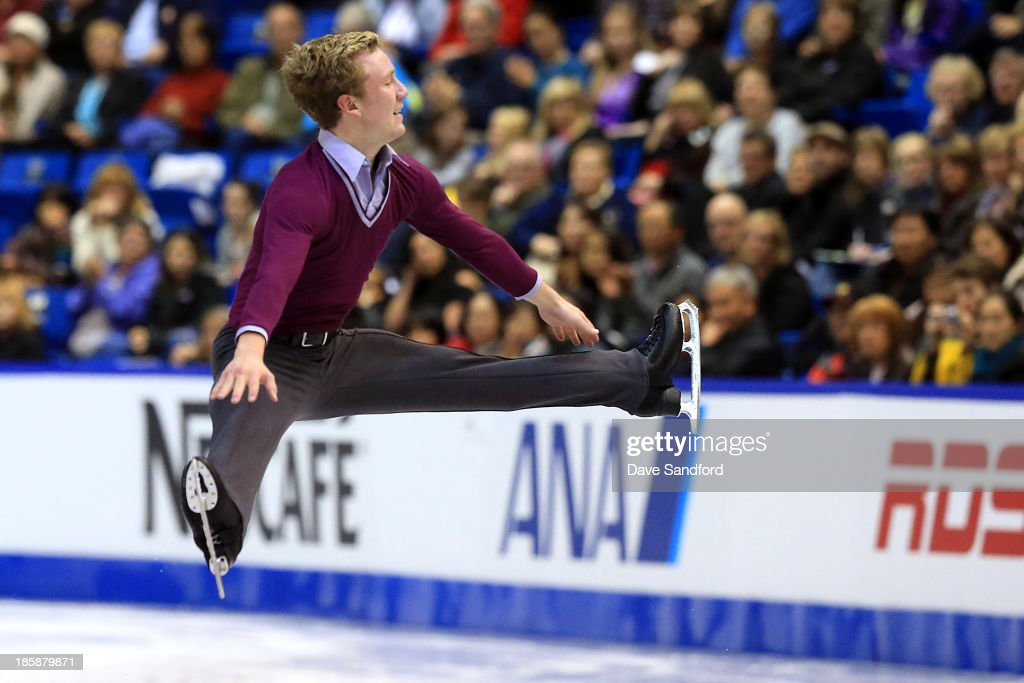 Ross Miner of the United States skates during the men's short program at the ISU GP 2013 Skate Canada International at Harbour Station on October 25, 2013 in Saint John, New Brunswick, Canada.