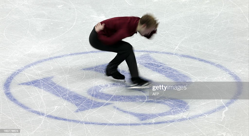 Ross Miner of the US skates his free program in the men's competition at the 2013 World Figure Skating Championships in London, Ontario, March 15, 2013. AFP PHOTO/Geoff Robins