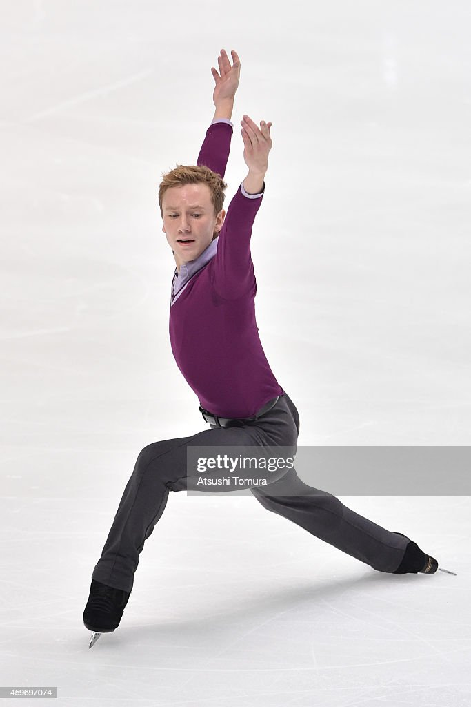 <a gi-track='captionPersonalityLinkClicked' href=/galleries/search?phrase=Ross+Miner&family=editorial&specificpeople=7462475 ng-click='$event.stopPropagation()'>Ross Miner</a> of the USA competes in the Men Short Program during day one of ISU Grand Prix of Figure Skating 2014/2015 NHK Trophy at the Namihaya Dome on November 28, 2014 in Osaka, Japan.