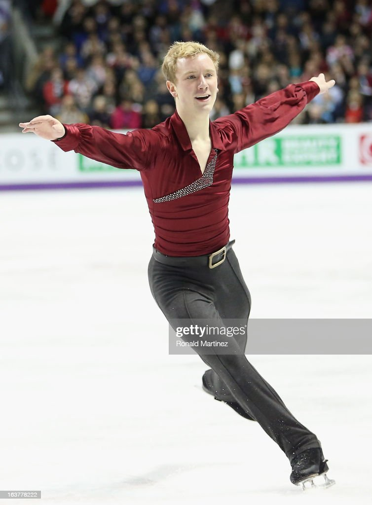 Ross Miner of USA competes in the Mens Free Skating during the 2013 ISU World Figure Skating Championships at Budweiser Gardens on March 15, 2013 in London, Canada.