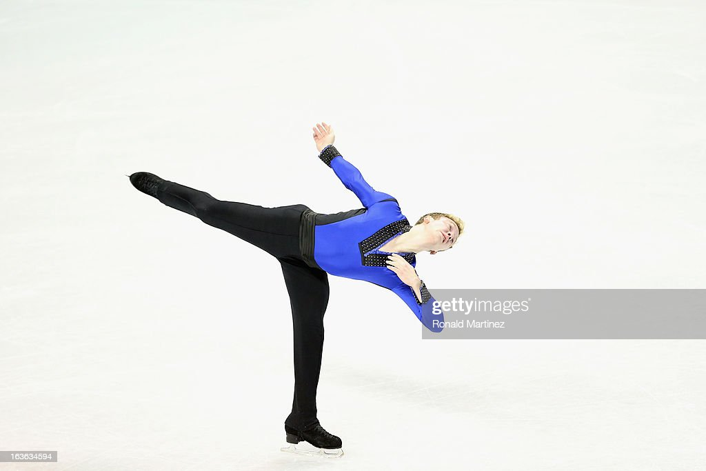 Ross Miner of USA competes in the Men's Short Program during the 2013 ISU World Figure Skating Championships at Budweiser Gardens on March 13, 2013 in London, Canada.