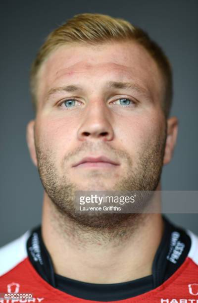 Ross Moriarty of Gloucester Rugby poses for a portrait during the Gloucester Rugby squad photo call for the 20172018 Aviva Premiership Rugby season...